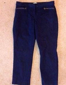 Curvy Talbot petites navy blue pants
